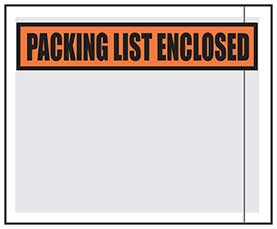 Packing List Envelopes Printed